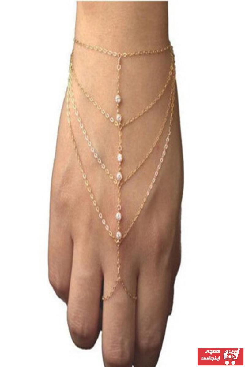 دستبند انگشتی زنانه اسپرت برند Defne Takı رنگ طلایی ty50145990