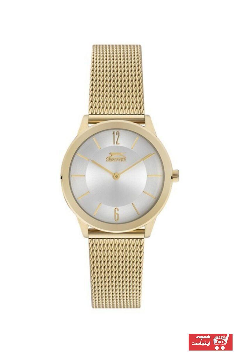 خرید پستی ساعت زنانه اصل برند اسلازنگر رنگ زرد ty73341284