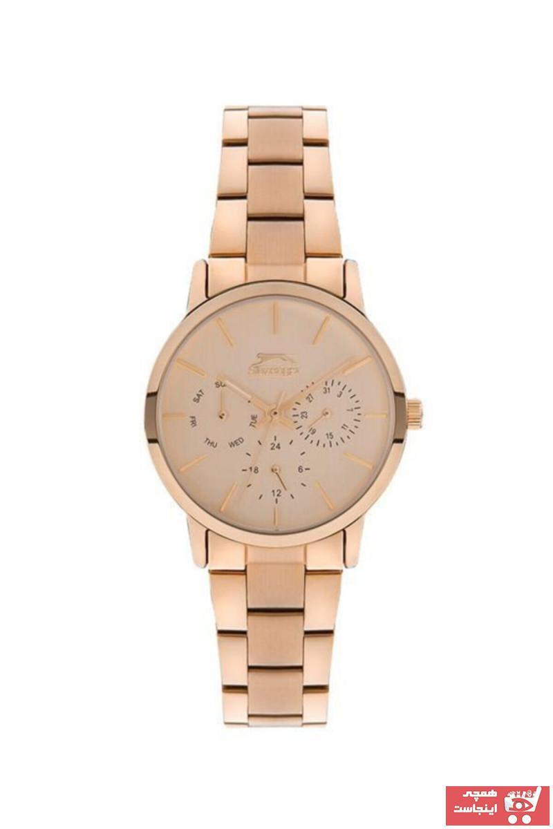 خرید آنلاین ساعت زنانه برند اسلازنگر رنگ متالیک کد ty79227963