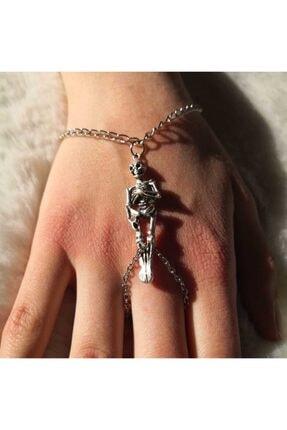 فروش دستبند انگشتی زنانه برند Fugusugu رنگ نقره کد ty90970840