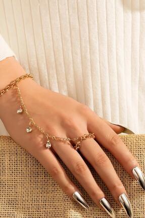 خرید نقدی دستبند انگشتی زنانه فروشگاه اینترنتی برند New Obsessions رنگ طلایی ty94204430