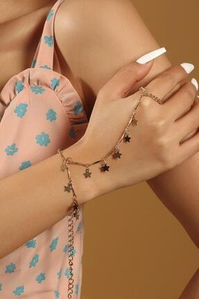 دستبند انگشتی زنانه ترکیه برند New Obsessions رنگ طلایی ty94210438