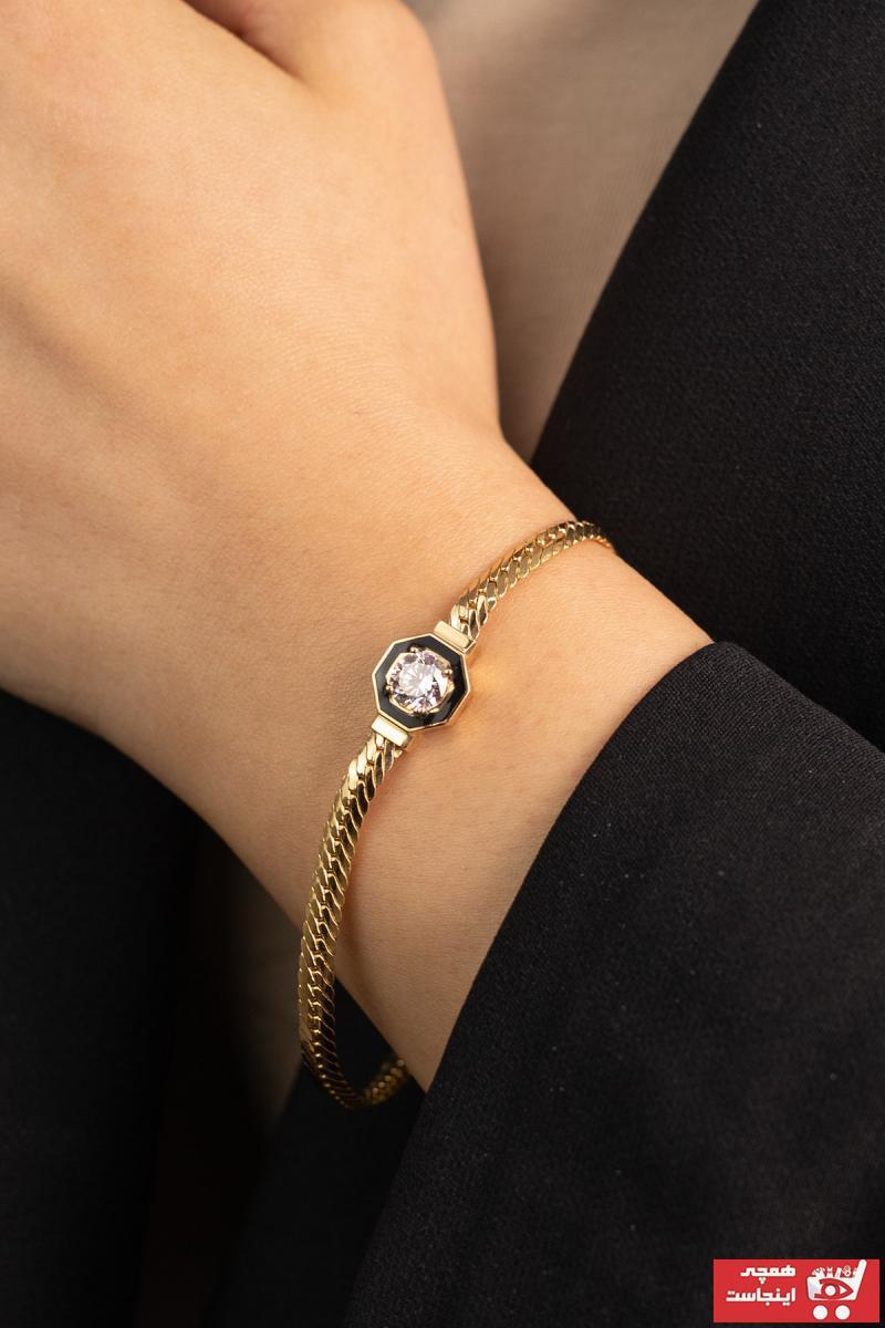 خرید نقدی دستبند طلا زنانه فروشگاه اینترنتی برند YAVUZ KUYUMCULUK رنگ طلایی ty95739307