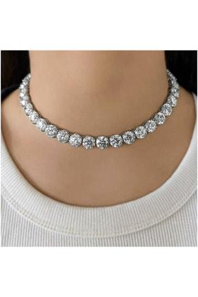 فروش گردنبند زنانه حراجی برند Crystal Diamond Zirconia کد ty100107070