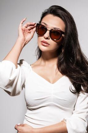 عینک آفتابی زنانه شیک و جدید برند Daniel Klein رنگ قهوه ای کد ty103389781