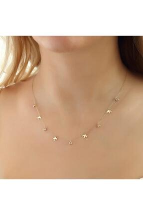 فروش گردنبند طلا زنانه شیک و جدید برند Glorria رنگ زرد ty112475385