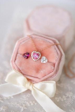 فروش پستی گردنبند زنانه شیک جدید برند Crystal Diamond Zirconia رنگ صورتی ty120126258