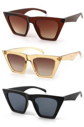 خرید عینک آفتابی زنانه شیک برند Nilu Moda رنگ قهوه ای کد ty75067578