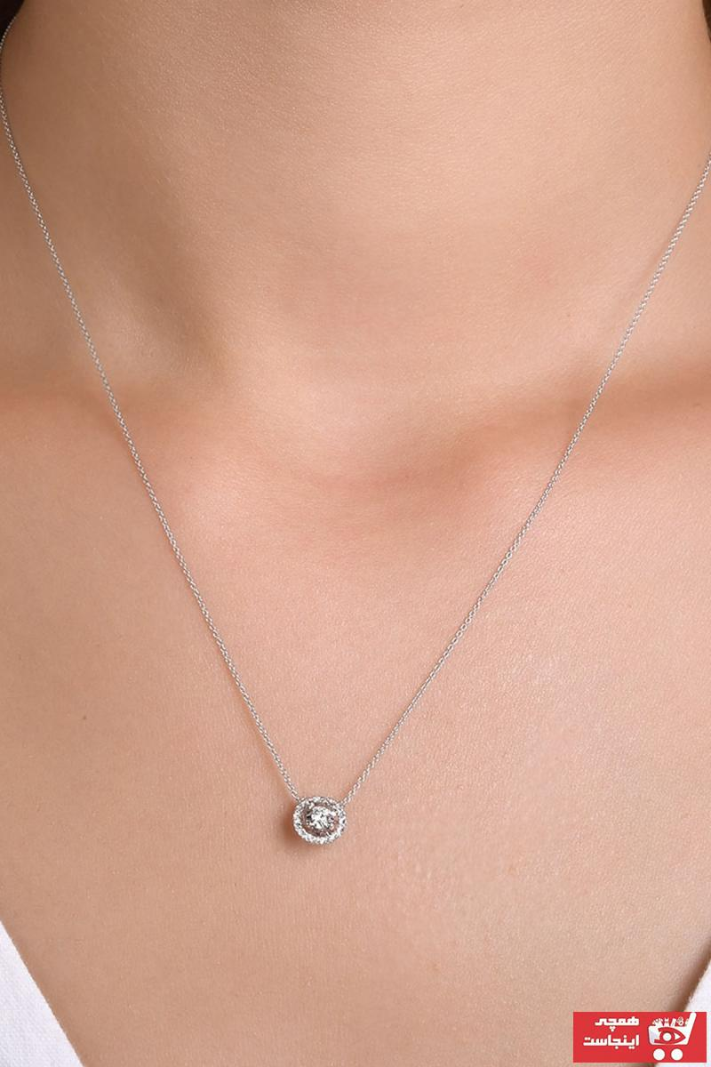 خرید گردنبند زنانه شیک مجلسی برند Ariş Pırlanta کد ty79367653
