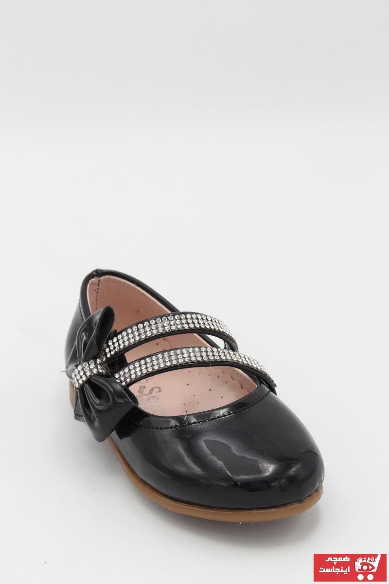 کفش تخت جدید نوزاد دختر شیک برند Sema رنگ مشکی کد ty43849136