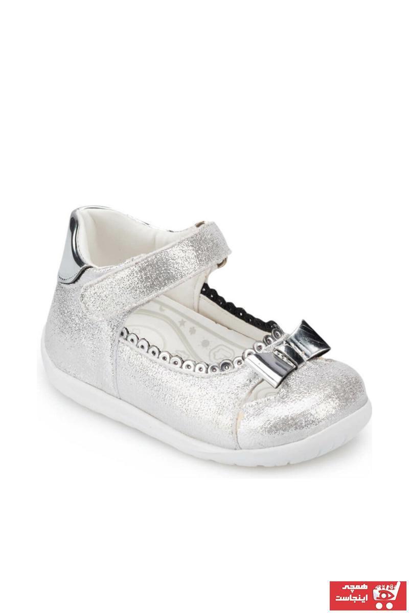 مدل کفش تخت بچه گانه دخترانه  برند Polaris رنگ نقره کد ty4819851