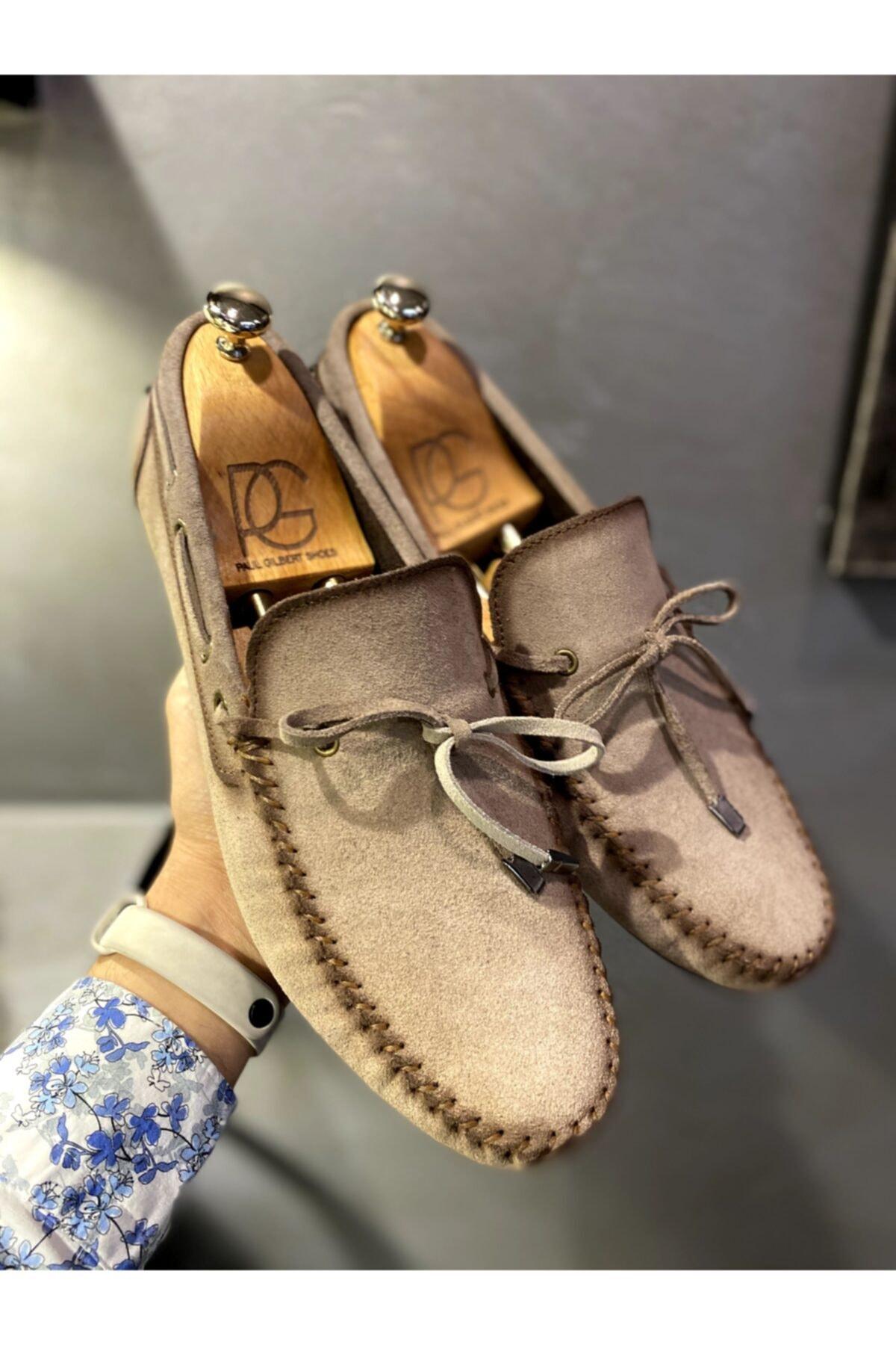 کفش مخکالج 2020 مردانه برند Treyler Ayakkabı رنگ بژ کد ty107911391
