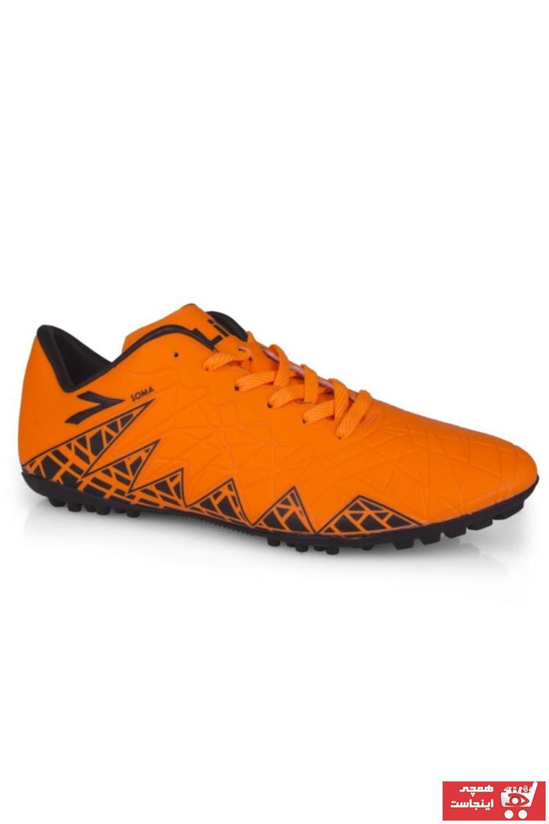 کفش فوتبال مردانه مدل دار برند LIG رنگ نارنجی کد ty34942793