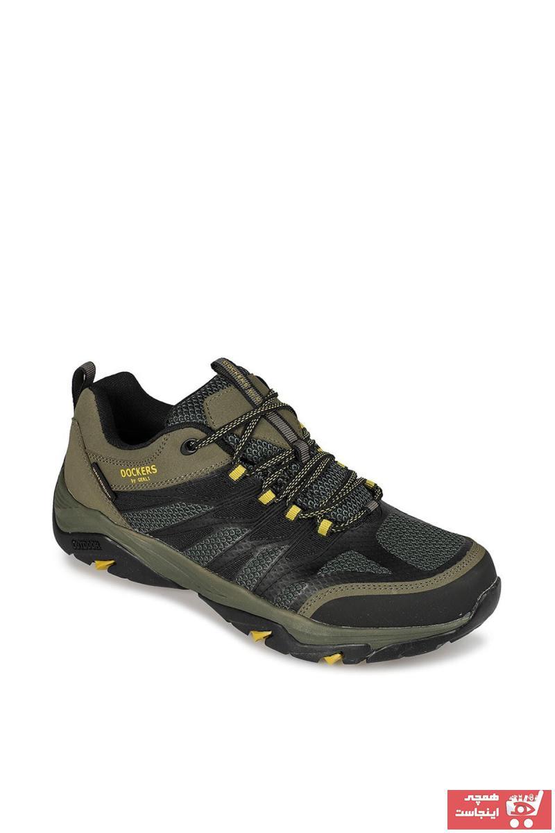 کفش کوهنوردی مردانه ساده برند Dockers رنگ خاکی کد ty3765284