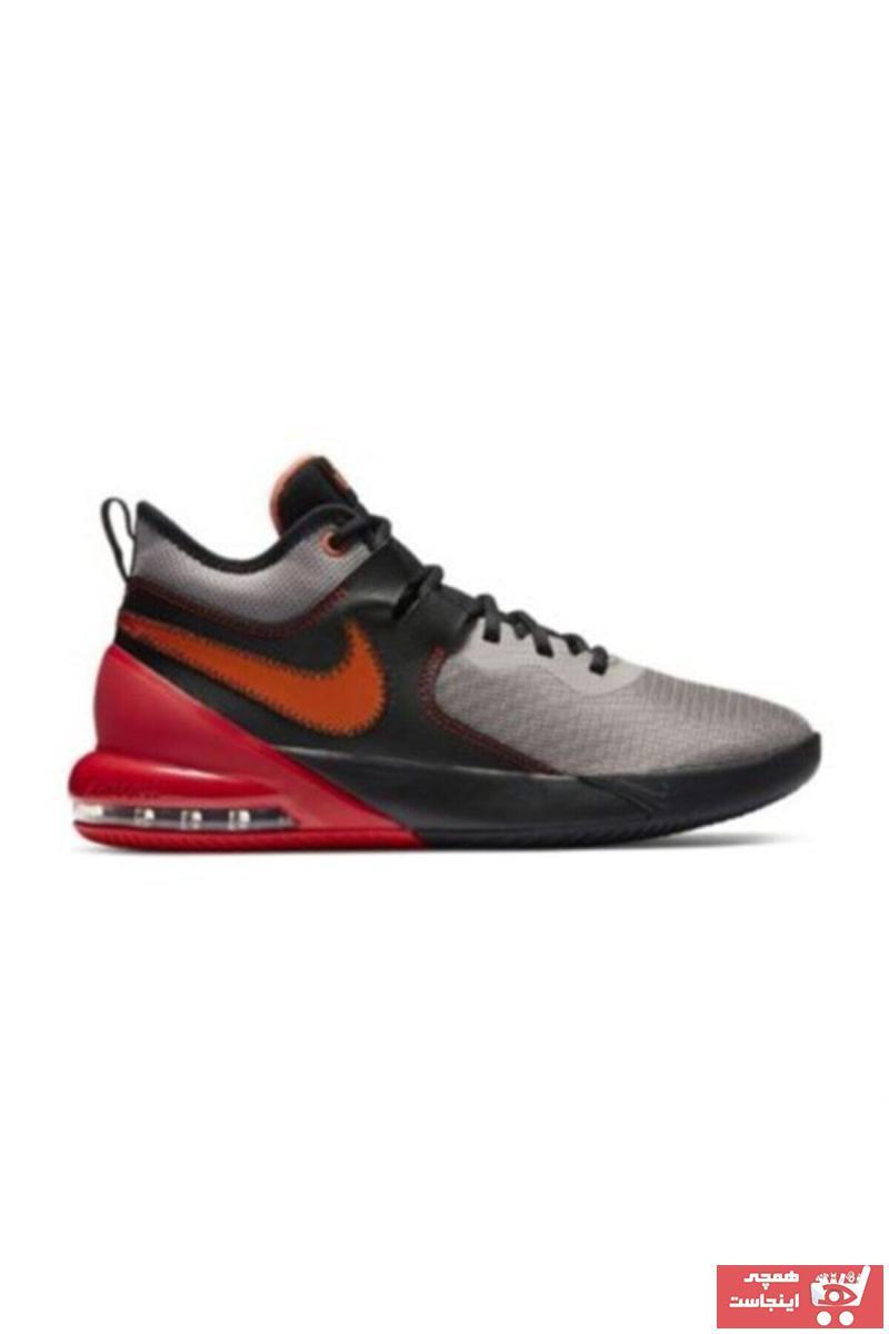 خرید اینترنتی کفش بسکتبال شیک برند Nike اورجینال رنگ نقره ای کد ty50803635