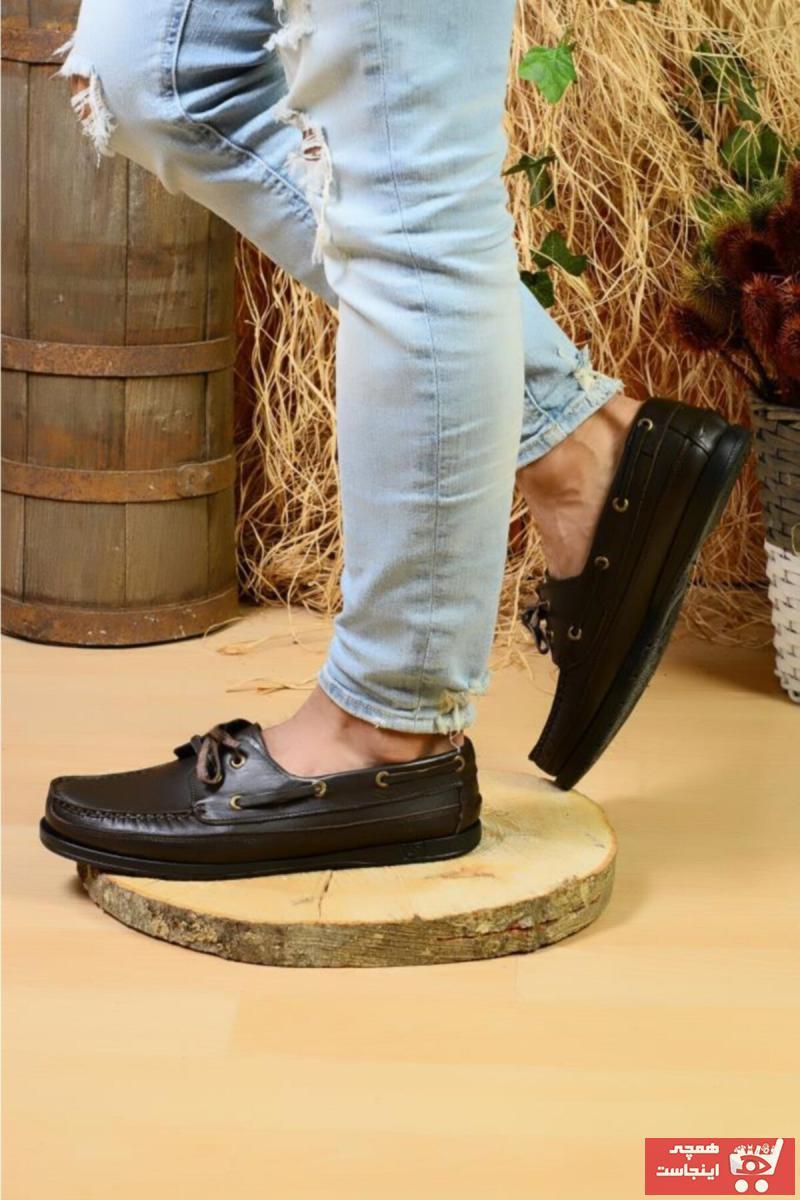 خرید پستی کفش کوهنوردی مردانه ترک  برند ROYJONES رنگ قهوه ای کد ty57397164