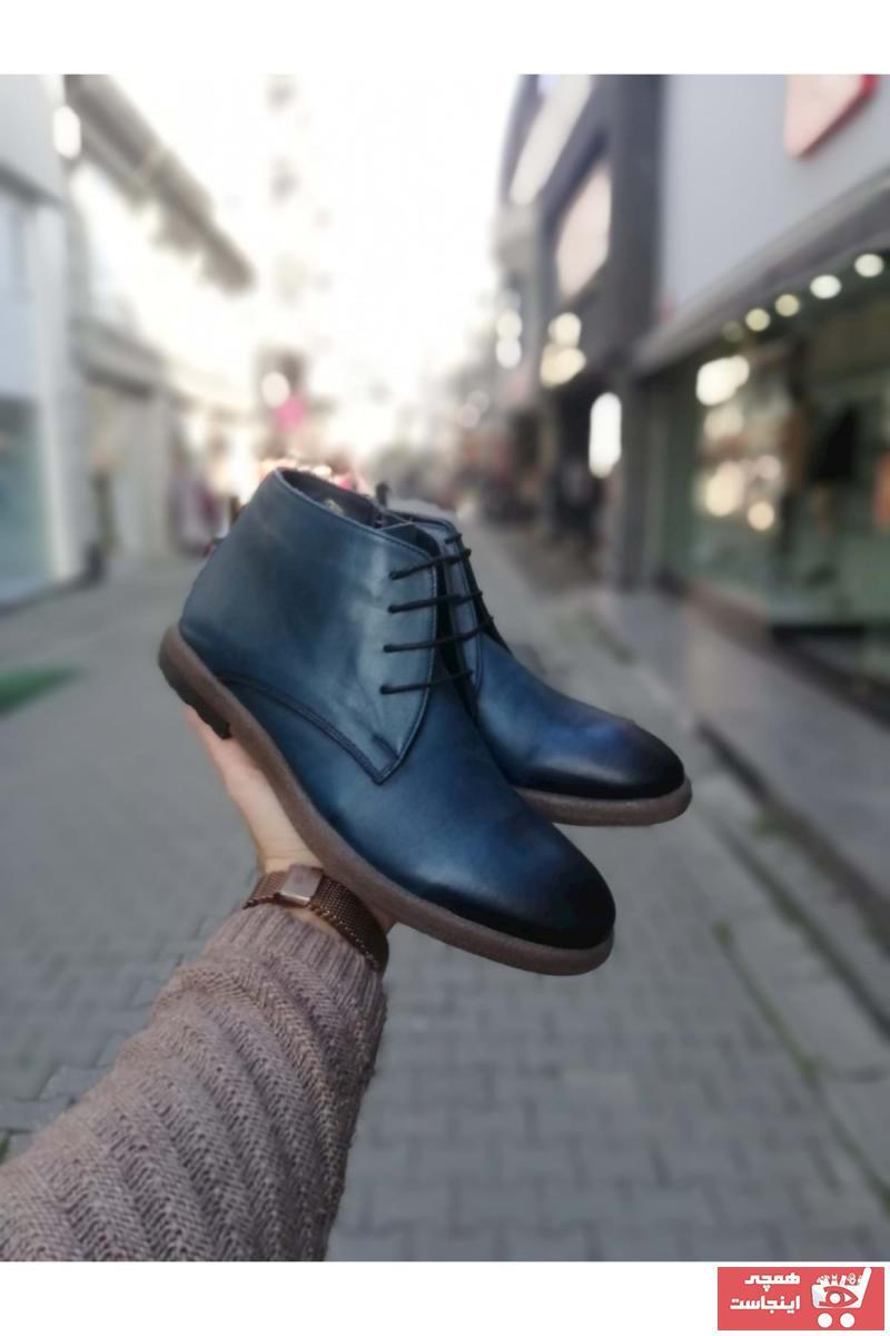 نیم بوت مردانه برند idol ayakkabı رنگ لاجوردی کد ty62829033