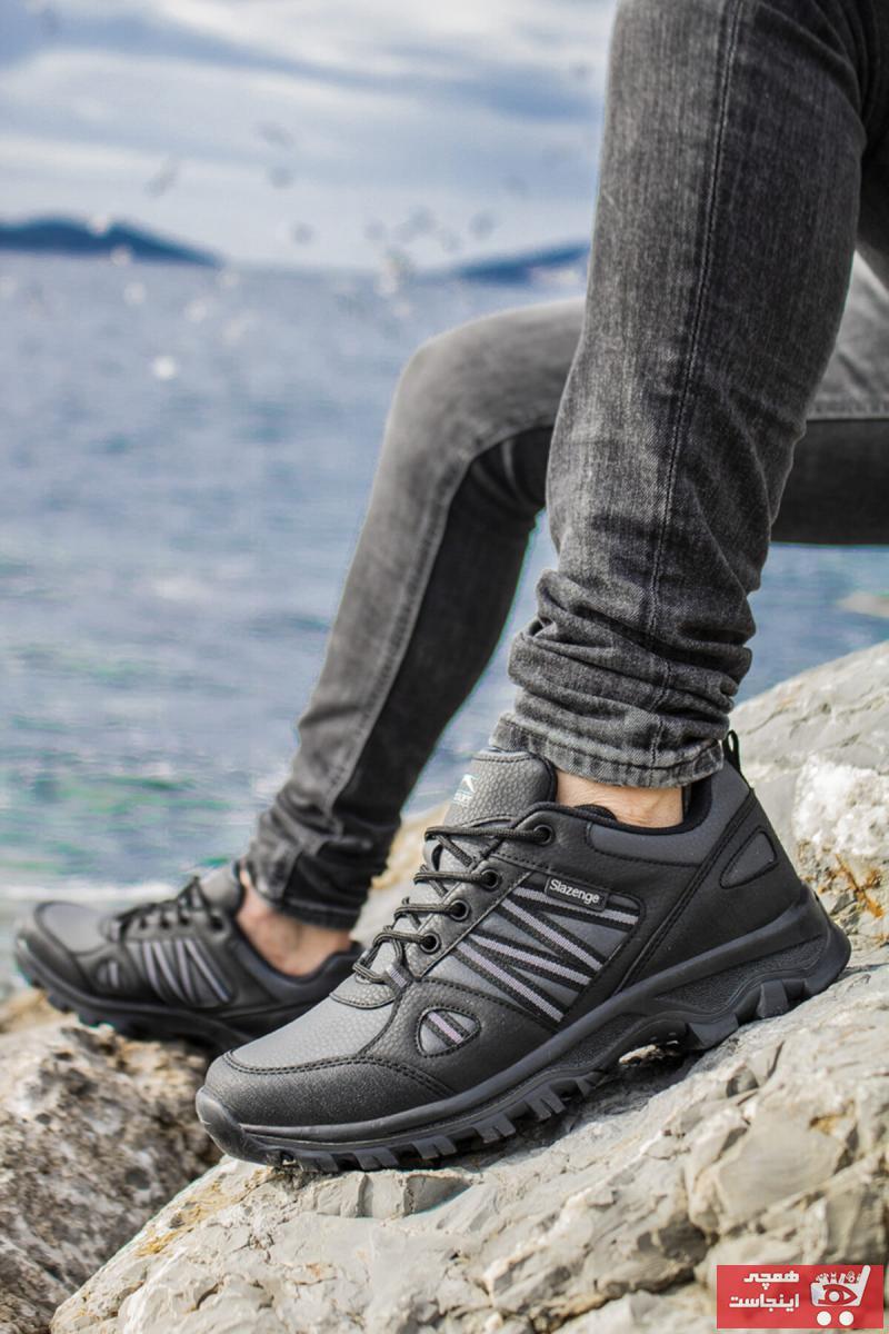 فروش کفش کوهنوردی مردانه 2021 برند اسلازنگر رنگ قهوه ای کد ty72025118