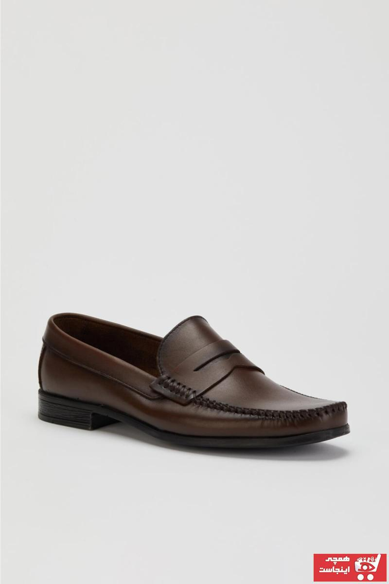 خرید اینترنتی کفش کلاسیک خاص مردانه مارک MUGGO رنگ قهوه ای کد ty90853808