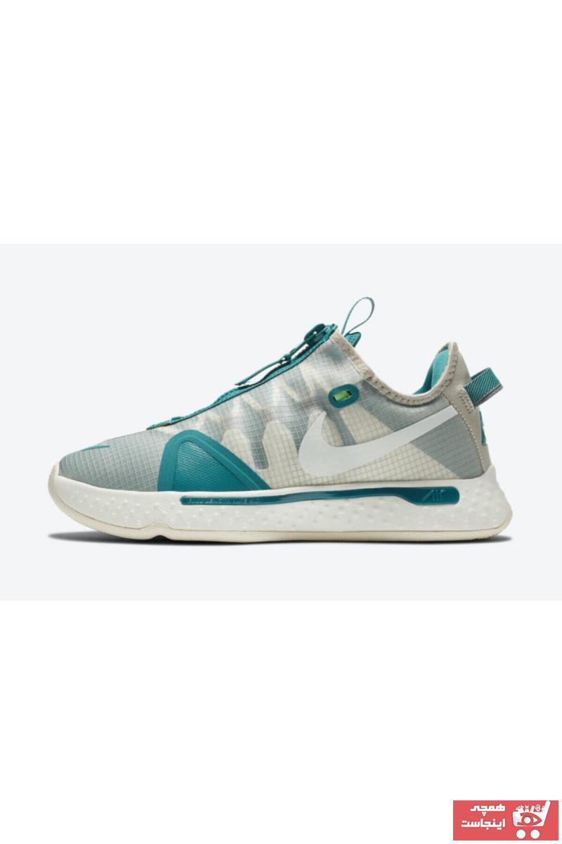 کفش بسکتبال طرح دار برند Nike اورجینال رنگ بژ کد ty90972827