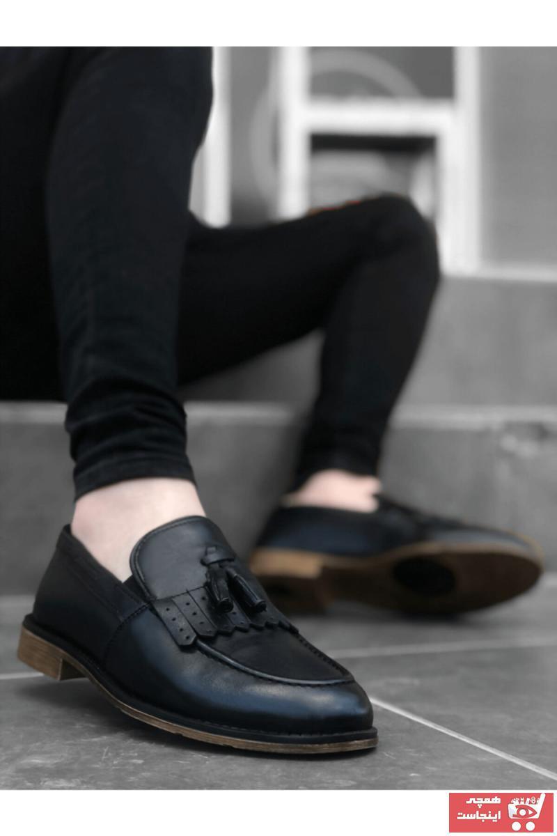 کفش کلاسیک مردانه تابستانی برند BOA رنگ مشکی کد ty95626977