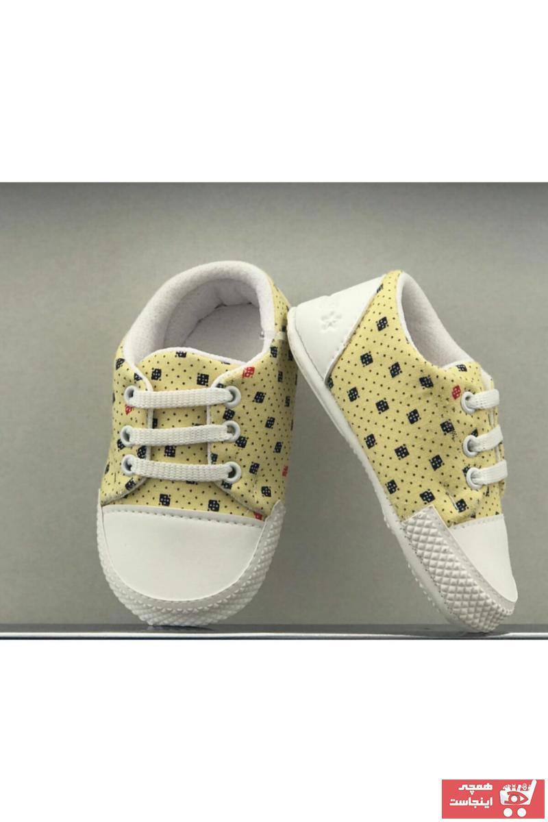کفش تخت فانتزی نوزاد پسر برند Bebiccino رنگ زرد ty105501397