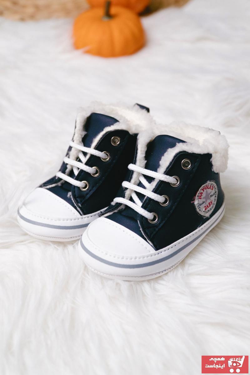 فروش بوت نوزاد دخترانه شیک و جدید برند PumpkinKidsWear رنگ مشکی کد ty64962033