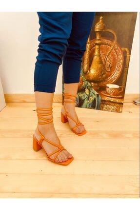 فروشگاه پاشنه بلند زنانه اینترنتی برند Elvinin Tarzı رنگ نارنجی کد ty101356226