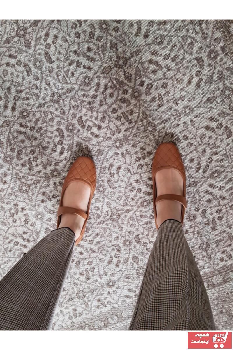 سفارش کفش تخت دخترانه ارزان برند SOF - Studio Of Friends رنگ قهوه ای کد ty103595506