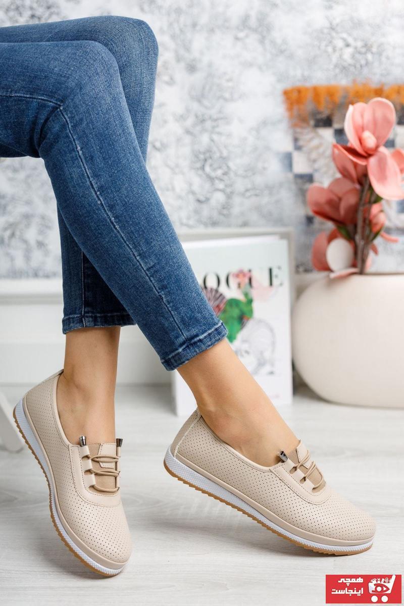 خرید کفش تخت دخترانه شیک مجلسی برند kısmetshoes رنگ بژ کد ty106220753