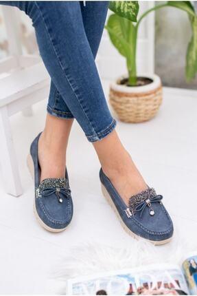 سفارش انلاین کفش تخت ساده برند Mugur رنگ لاجوردی کد ty109892631