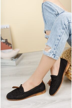فروش کفش تخت زنانه فانتزی برند MORENİCA رنگ مشکی کد ty112726130