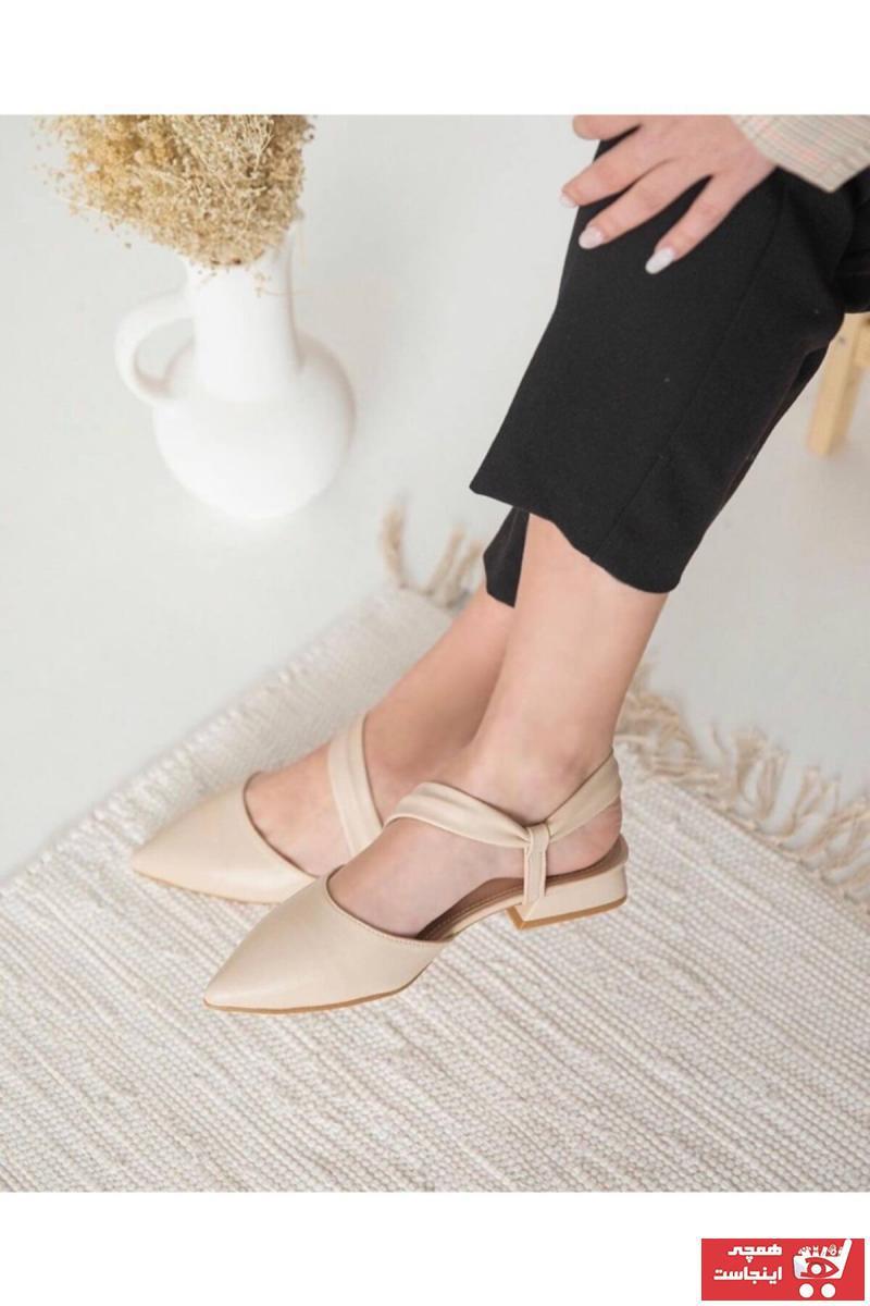 کفش تخت دخترانه شیک مجلسی برند modaeslem رنگ بژ کد ty112779556