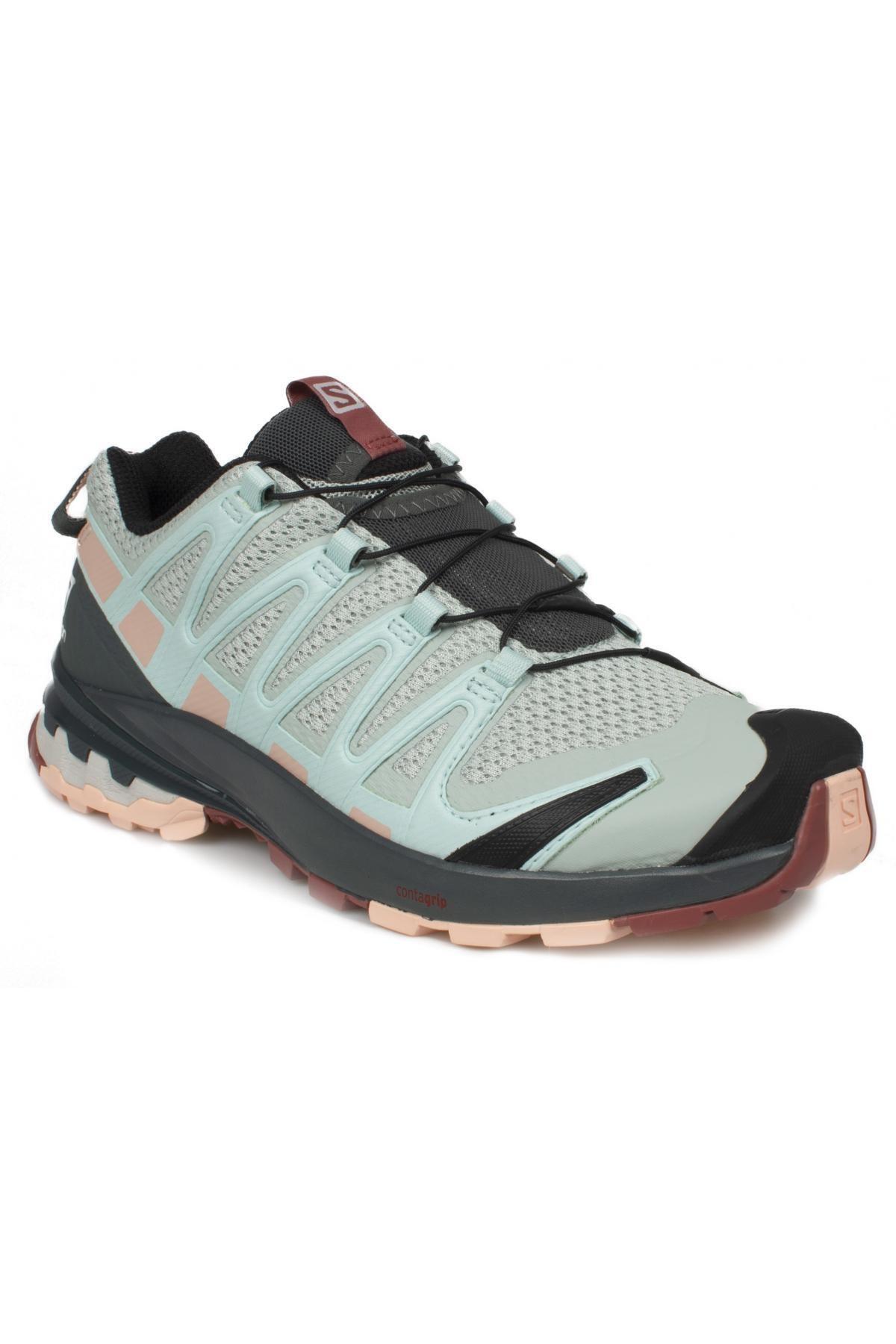 کفش کوهنوردی زنانه ترک برند Salomon رنگ نقره ای کد ty118010009