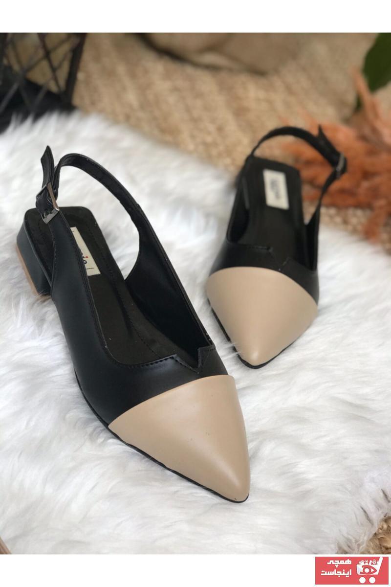 کفش تخت دخترانه اسپرت جدید برند Surpie Shoes رنگ مشکی کد ty118851679