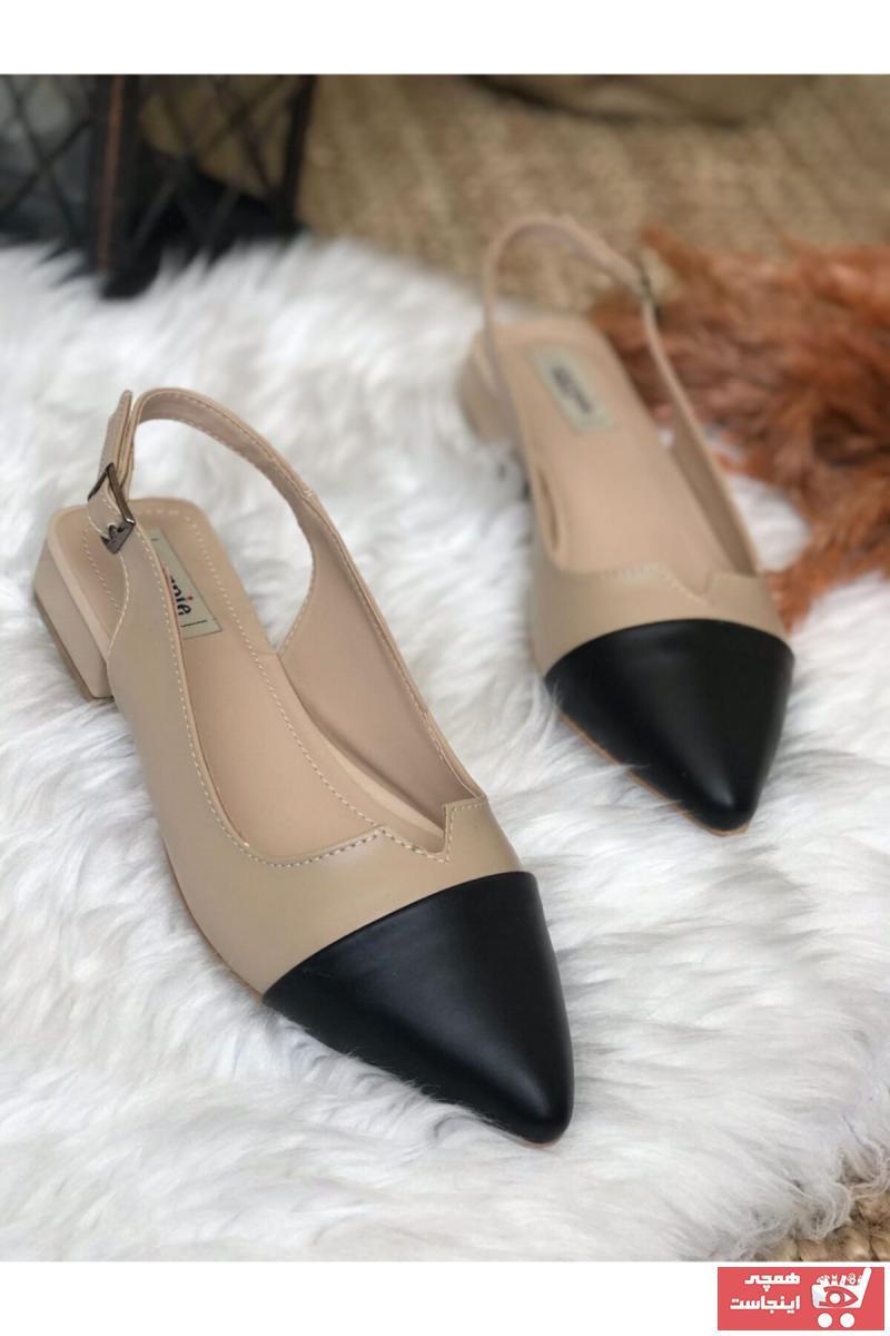 خرید پستی کفش تخت شیک زنانه برند Surpie Shoes رنگ مشکی کد ty118851692