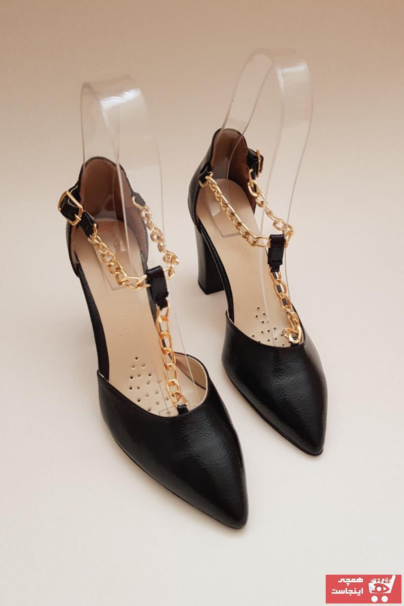 خرید کفش پاشنه بلند مجلسی زنانه ست برند Odie Collection رنگ مشکی کد ty119586409