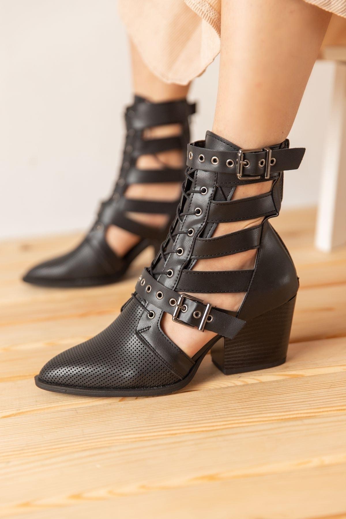خرید انلاین بوت طرح دار برند Bej Ayakkabı رنگ مشکی کد ty120216184