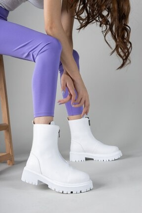 نیم بوت 2020 مدل جدید برند Riccon رنگ سفید ty133073045