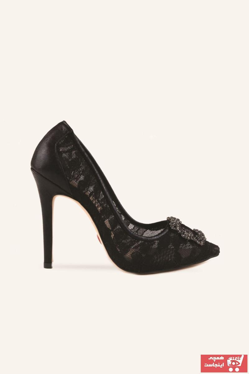 کفش پاشنه بلند مجلسی زنانه قیمت مناسب برند MARCATELLI رنگ مشکی کد ty57969994