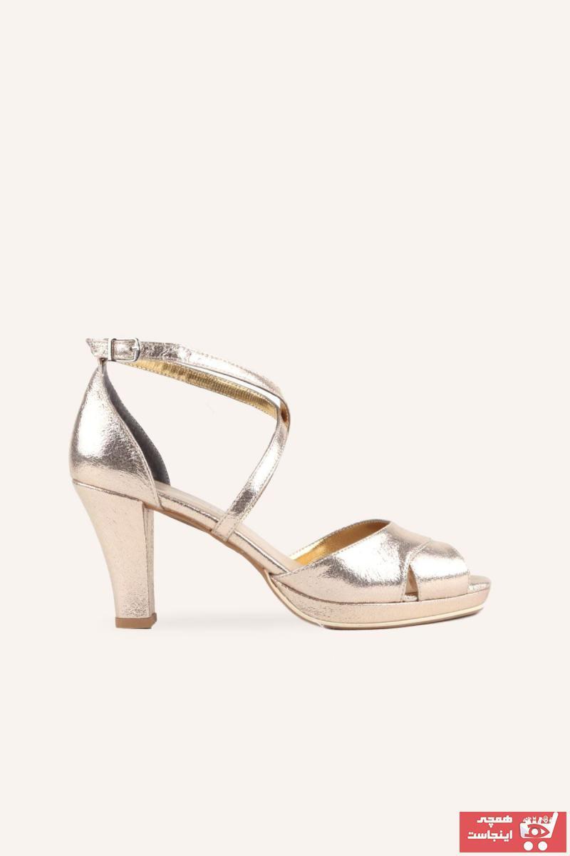 خرید نقدی کفش پاشنه بلند مجلسی زنانه ترک برند MARCATELLI رنگ طلایی ty73699891