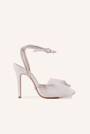 کفش پاشنه بلند مجلسی زنانه اینترنتی برند MARCATELLI رنگ طلایی ty81538021