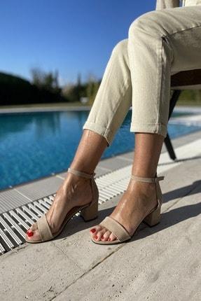 پاشنه بلند زنانه قیمت برند İnan Ayakkabı رنگ بژ کد ty81750833