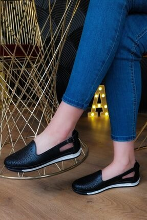 خرید نقدی کفش تخت زنانه ترک برند Aymood رنگ مشکی کد ty90071386