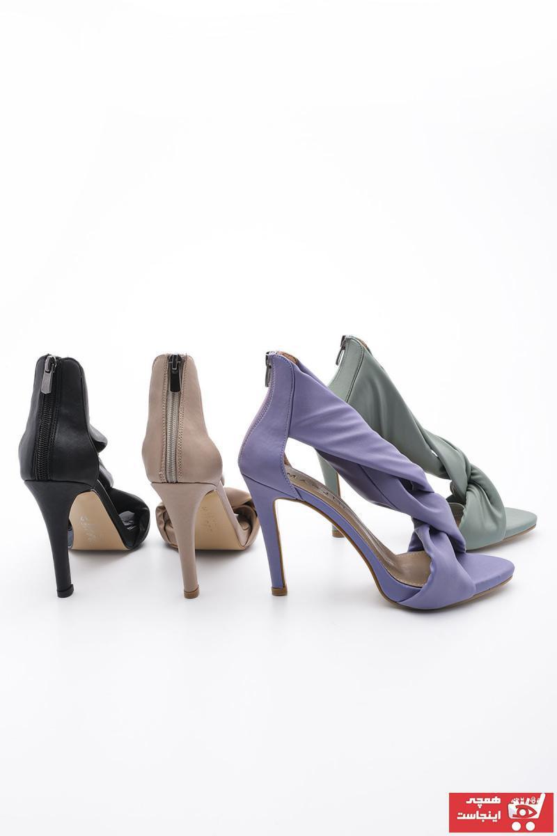 کفش پاشنه بلند مجلسی زنانه برند Marjin رنگ بژ کد ty94107135