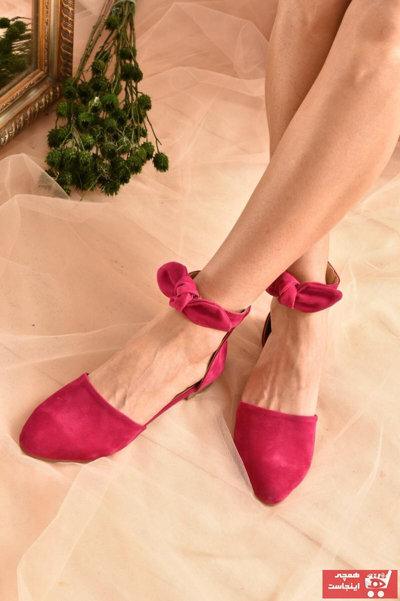 خرید پستی کفش بابت زیبا برند Fox Shoes رنگ صورتی ty94437543