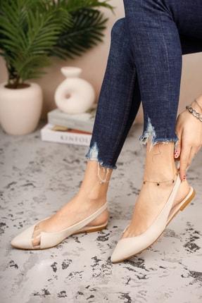 فروش انلاین کفش تخت دخترانه مجلسی برند LAMİNYON SHOES رنگ بژ کد ty95309319