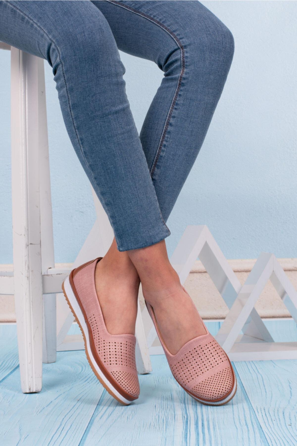 کفش تخت دخترانه اینترنتی برند ERN SHOES رنگ صورتی ty96993494