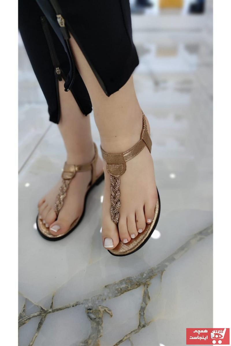 صندل دخترانه ترک جدید برند Stocks Shoes رنگ صورتی ty98967030