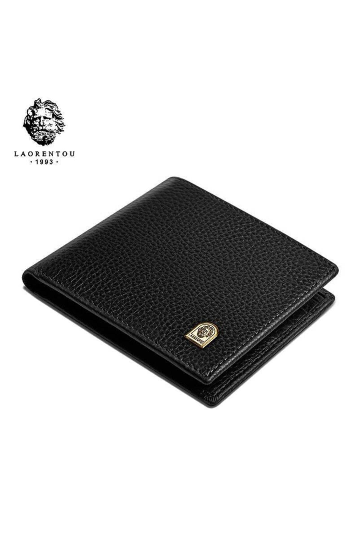 خرید اسان کیف پول مردانه اورجینال برند Laorentou رنگ مشکی کد ty112823664